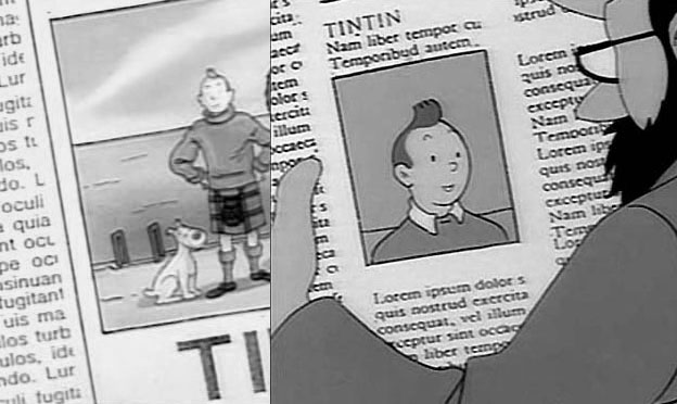 Tintin: newspaper and lipsum!